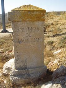 Mojón de límite provincial entre Soria y Guadalajara