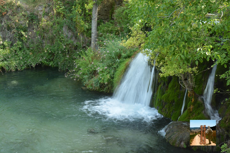 Cascada del río Dulce en el Molino del Tiobu en Mandayona