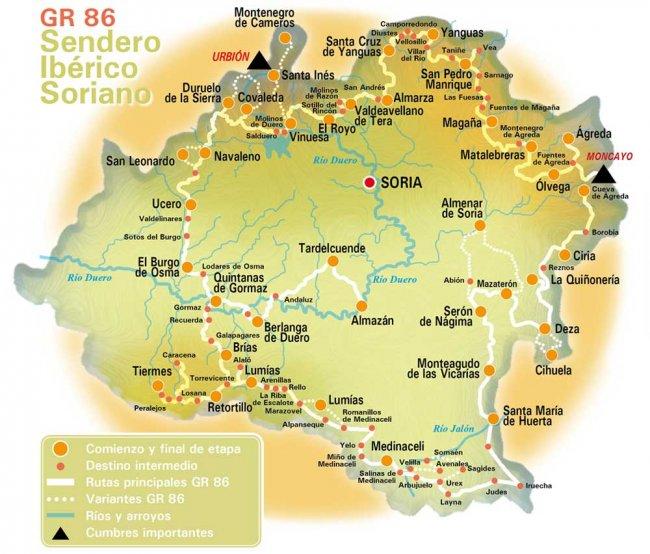 Mapa del GR-86