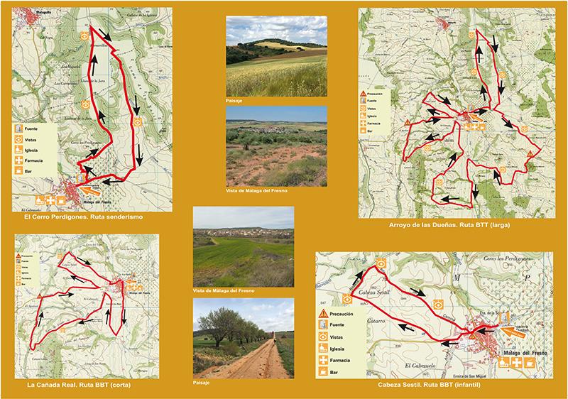 Mapa con la ruta