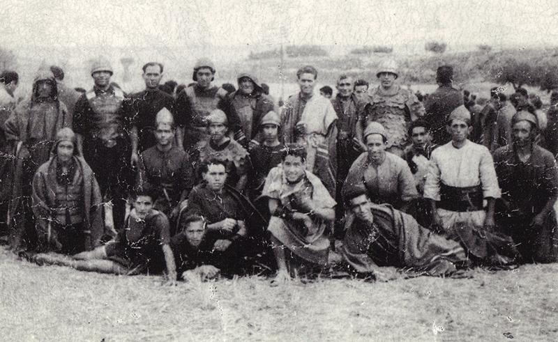 """Un grupo de escopeteros intervinieron en el rodaje. Del libro """"Escopete, un siglo en la memoria"""""""