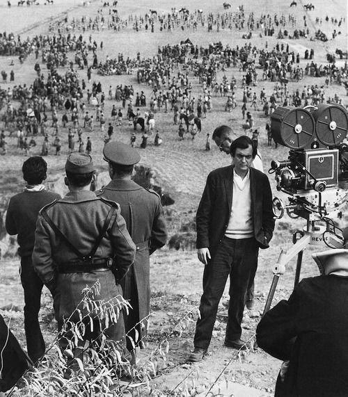 Stanley Kubrick durante el rodaje de la película