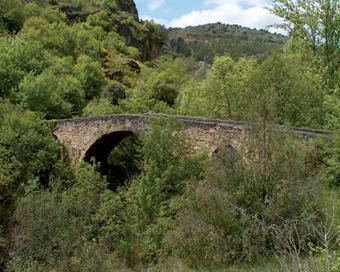 Puente medieval en Valdesotos