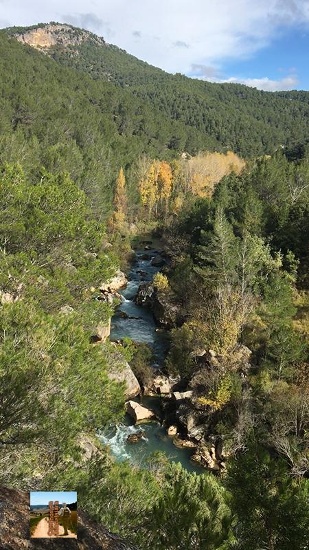 Río Tajo en el Hundido de Armallones