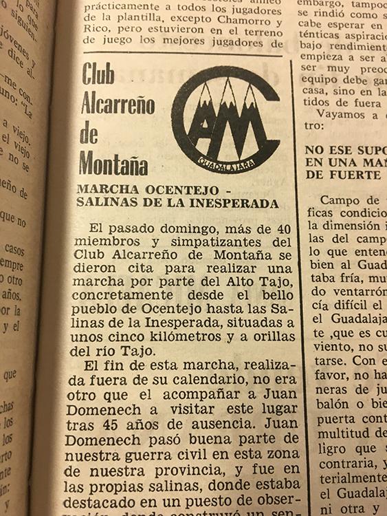 Nueva Alcarria, 18 de diciembre de 1982