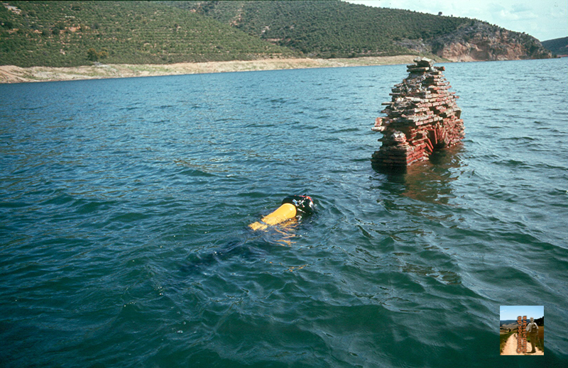 Rescate de la imagen de la Virgen de Peñamira en 1984 por buceadores madrileños