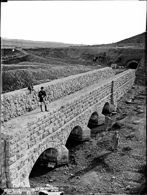 Acueducto de La Tajeda en el Barranco de Valfrío