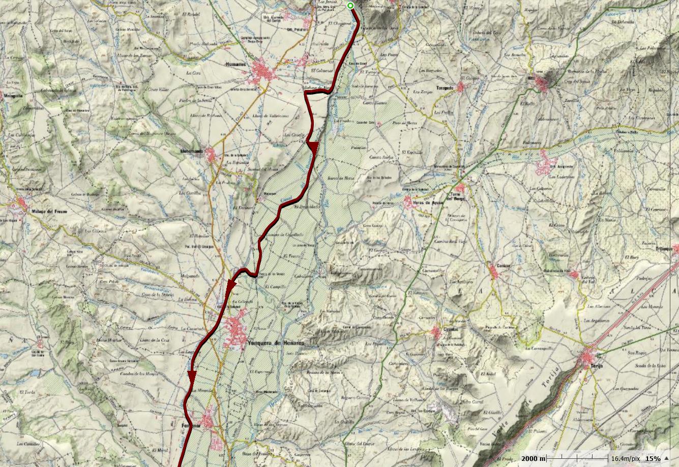 Etapa 1: De la represa sobre el Henares hasta la carretera de Fontanar