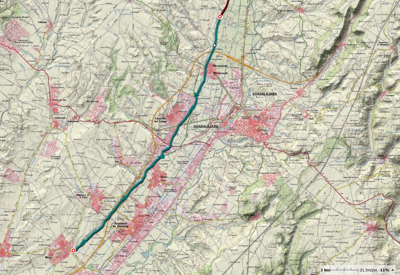 Etapa 2: De la carretera de Fontanar hasta Meco